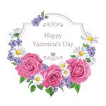 情人节鲜花花环