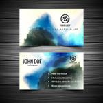水彩商务卡片