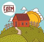 农场房屋风景