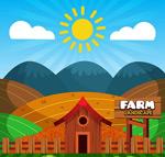 农场风景矢量