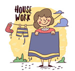 做家务的女子