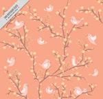 花枝上的鸟群