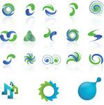 蓝绿双色图形标志