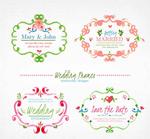 彩绘婚礼花纹框