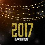 闪亮新年贺卡