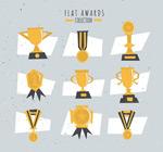 扁平化奖杯与奖牌
