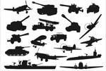 军事机械剪影