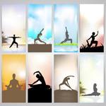 瑜伽动作矢量