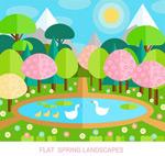 春季池塘风景