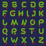 绿色松枝字母