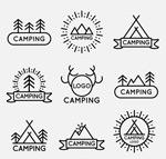 野营标志矢量