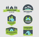 绿色野营标志
