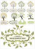 树木叶子装饰边框