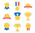 奖牌徽章和奖杯
