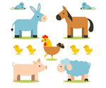 卡通农场动物