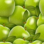 青苹果无缝背景