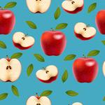 红苹果无缝背景