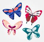 彩色可爱蝴蝶