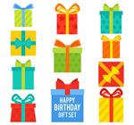 彩色生日礼盒