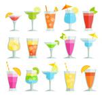 扁平化夏季冷饮