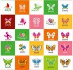 蝴蝶图案矢量