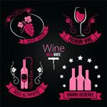 矢量红酒标签