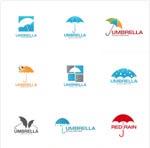 雨伞logo矢量