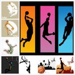 篮球人物矢量