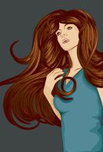 美丽长发女子