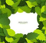 质感绿叶边框