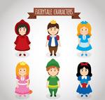 童话故事角色矢量