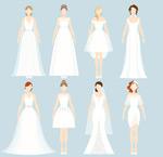 白色婚纱女子