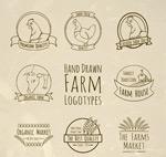 手绘农场标志