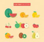 彩色水果矢量