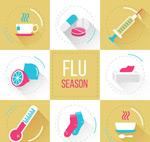 流感季节元素图标