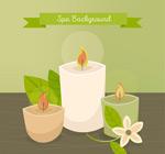 spa精油蜡烛插画