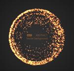 金色圆形粒子光效