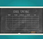 黑板课程表
