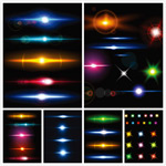 多彩光效矢量