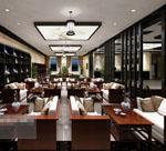 中式咖啡厅模型