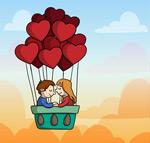 气球里的情侣