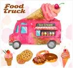冰淇淋车和甜品