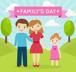 家庭日矢量