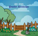 花园栅栏风景