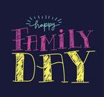 国际家庭日艺术字