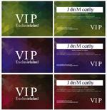 几何底纹VIP卡