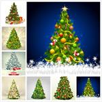圣诞树和雪花