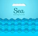 蓝色海浪剪贴画