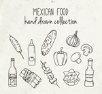 手绘墨西哥食物