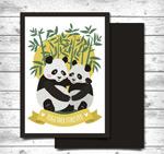 熊猫情侣卡片